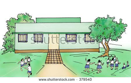 Indian Rural Village Primary School Stock Illustration 379540.