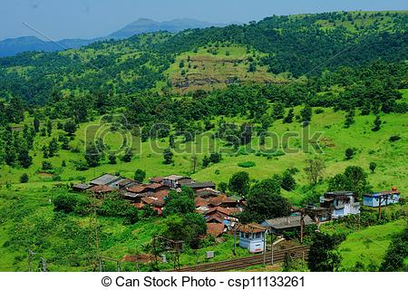 Stock Images of Beautiful Indian village landscape.