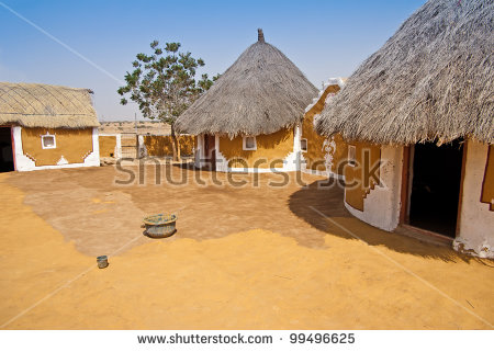Indian Village Stock Images, Royalty.