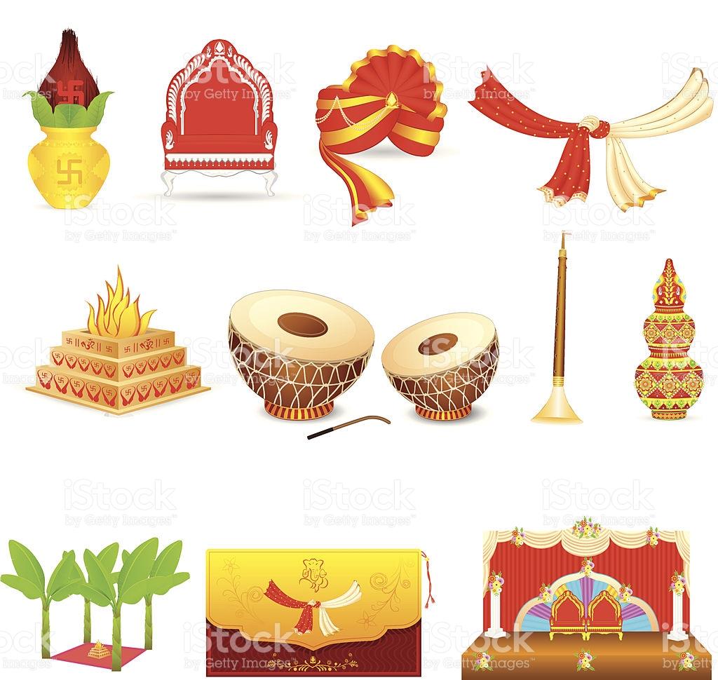 Indian Wedding Clip Art, Vector Images & I #29223.