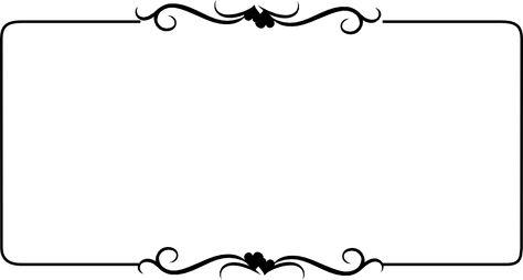 black and white Heart Border free Clip Art.