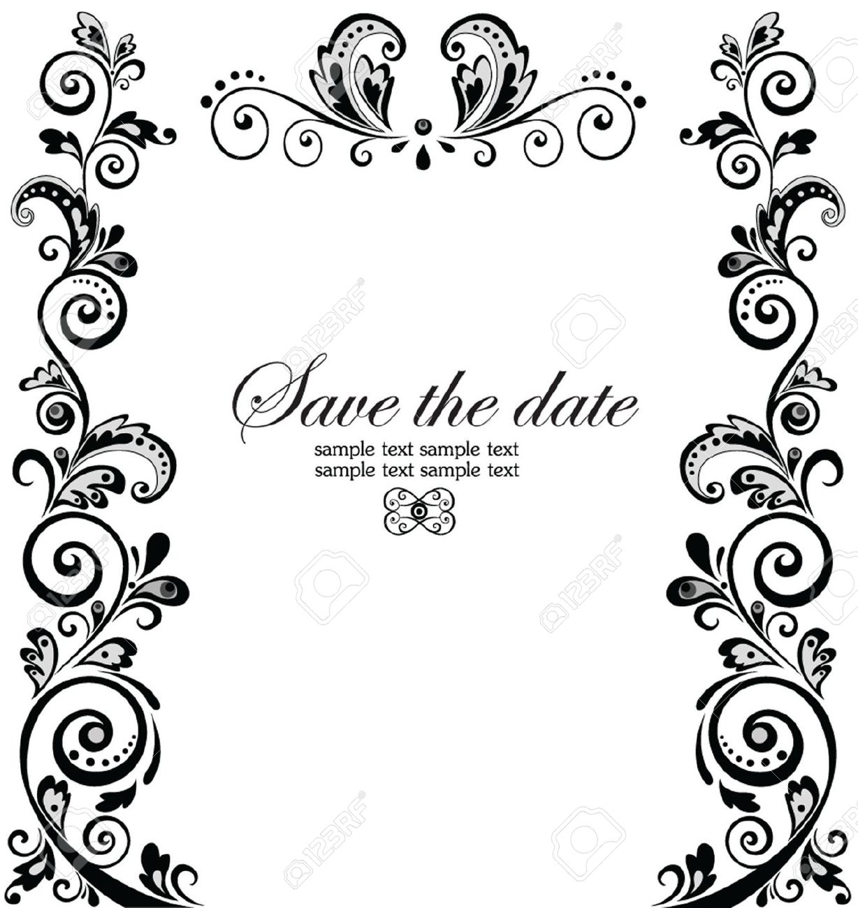 Indian Wedding Cards Design Clipart.