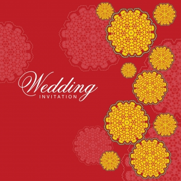 Indian Wedding Card PNG Images.