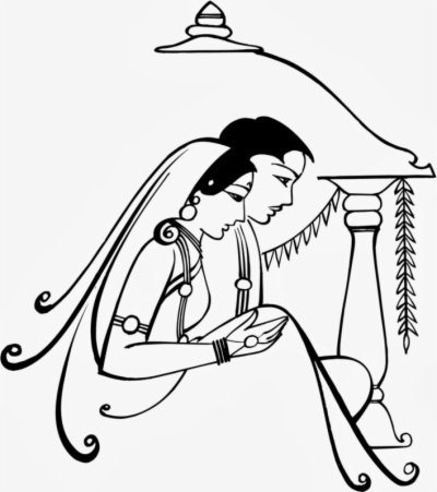 indian marriage clipart , Free png download.