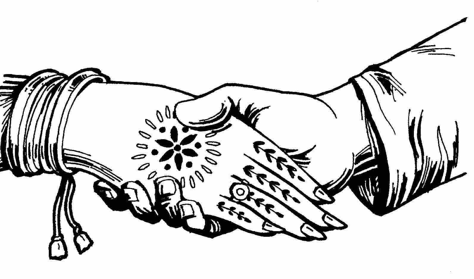 Indian Wedding Hand Clipart.