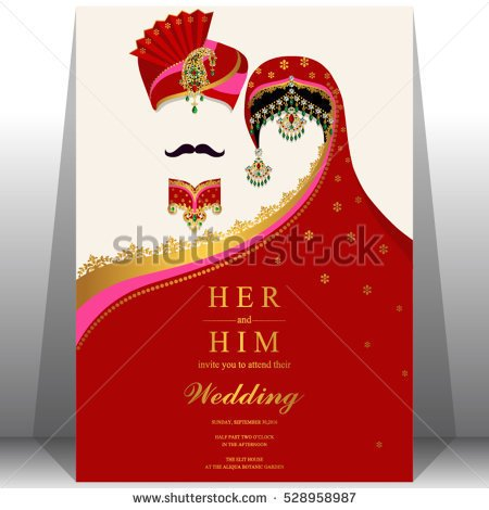 Indian Wedding Invitation Color Clipart Clipground