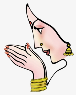 Free Indian Welcome Clip Art with No Background.