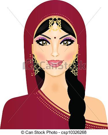Indian ladies clipart.