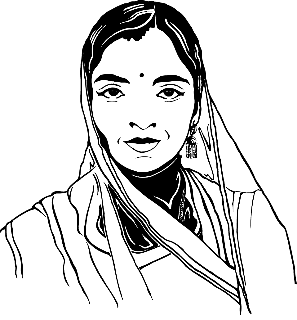 Indian clipart woman.