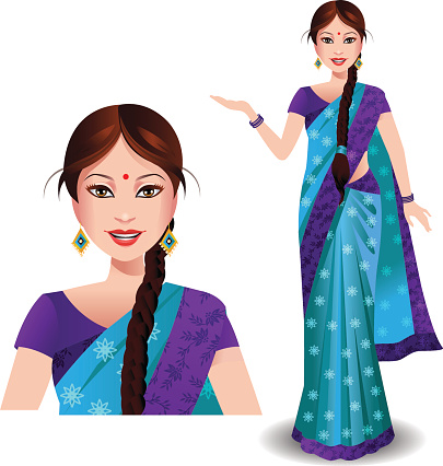 Indian Woman Clip Art, Vector Images & Illustrations.