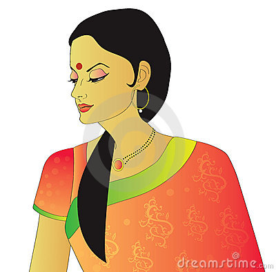 Indian lady clipart.