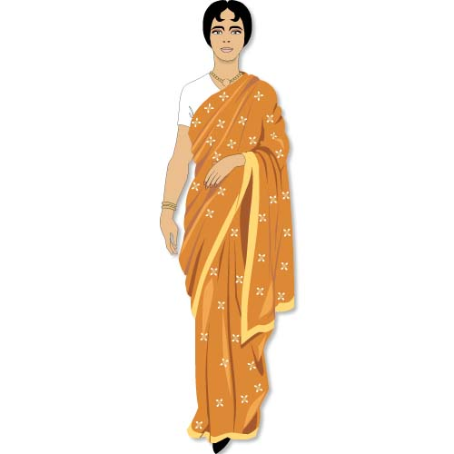 Indian woman clipart.