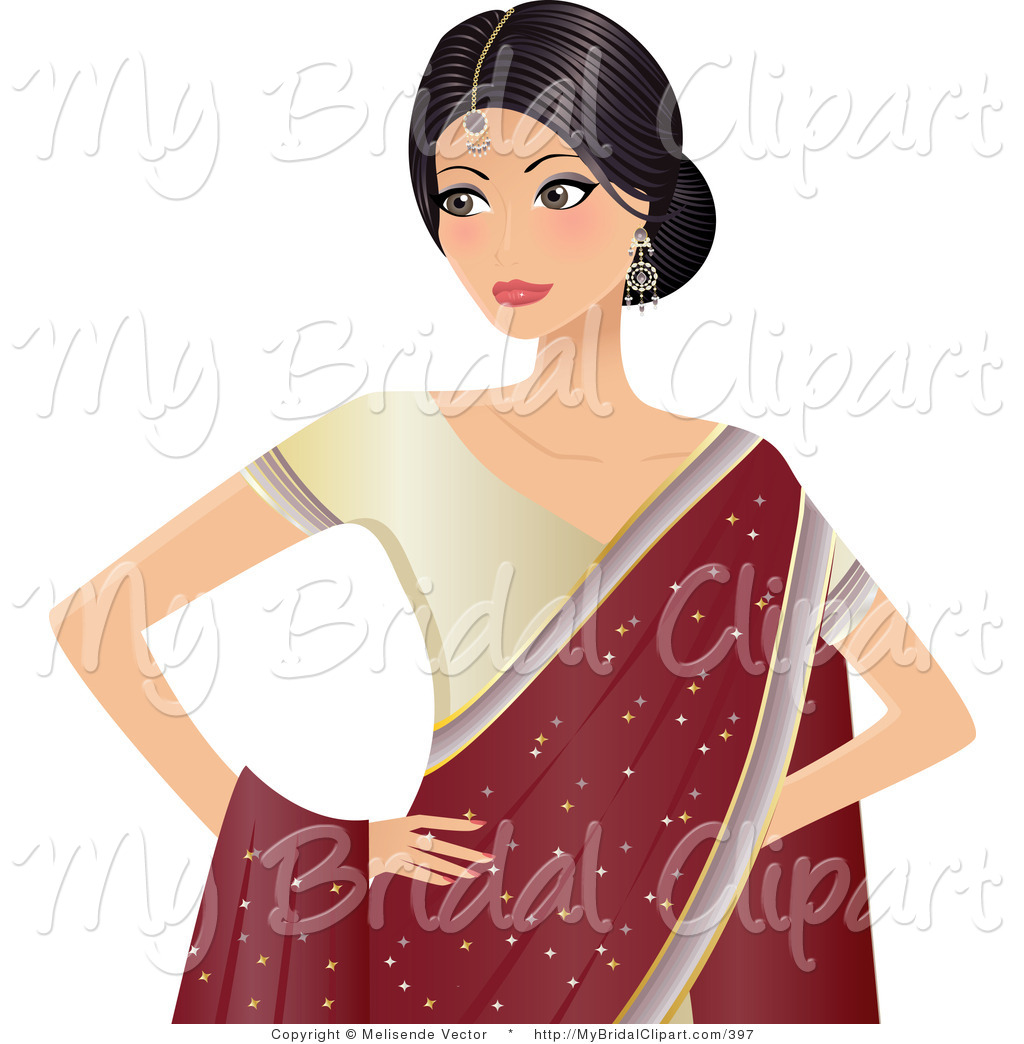 Indian hd girl clipart.