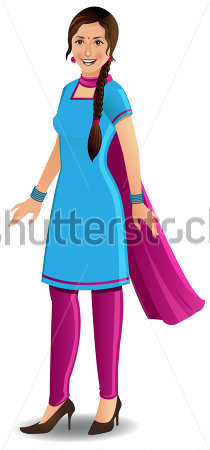 Indian dress clipart.