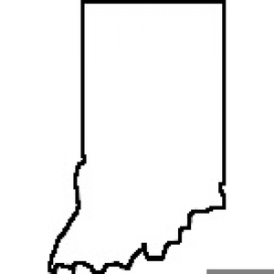 State Of Indiana Clipart.