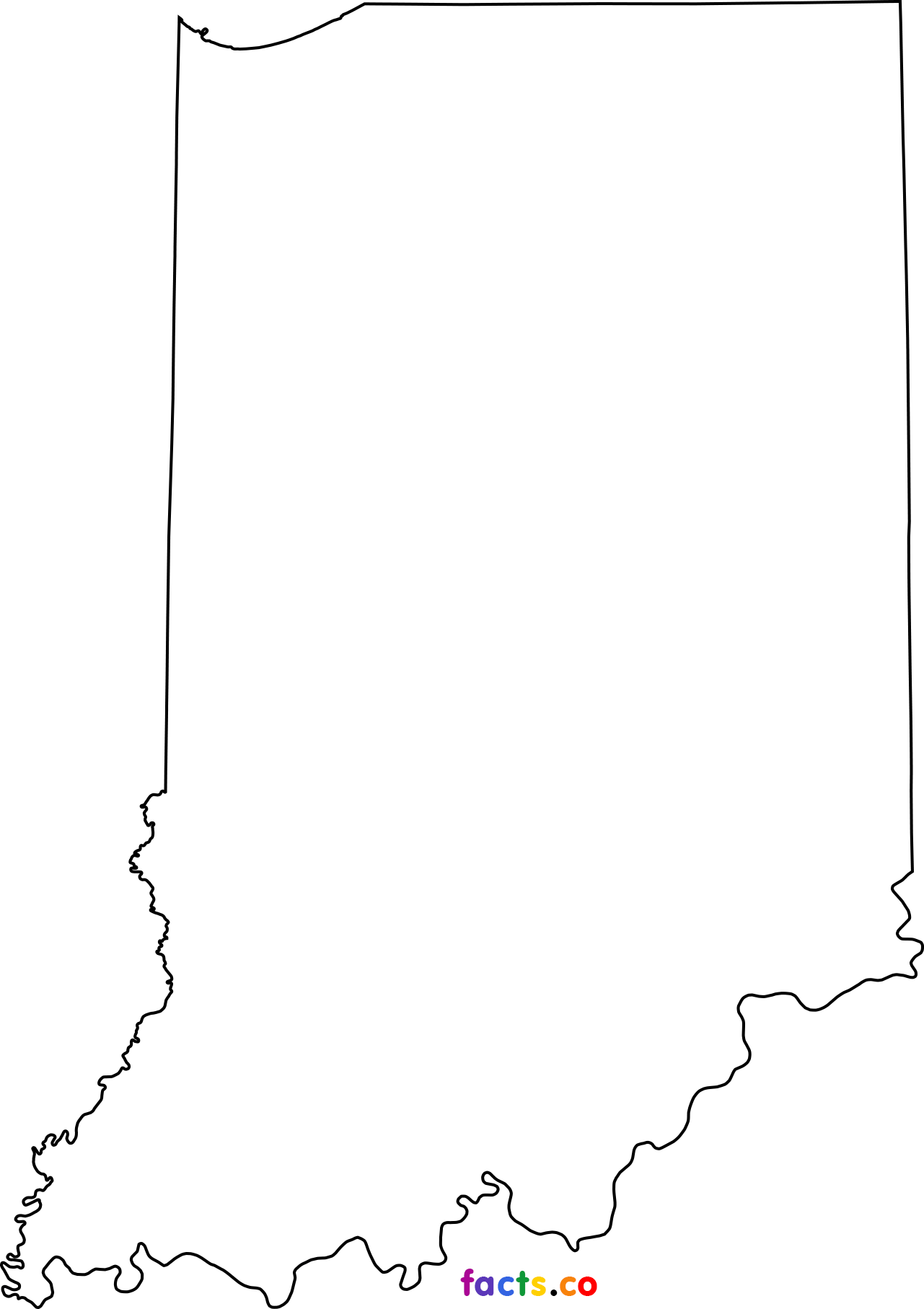 Outline Map Of Indiana With Clipart : Outline Map Of Indiana.