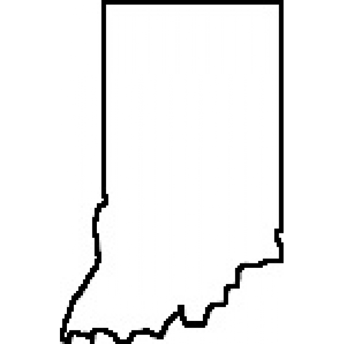 Clipart Map Of Indiana.