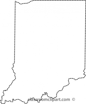 Px Flag Map Of Indiana.