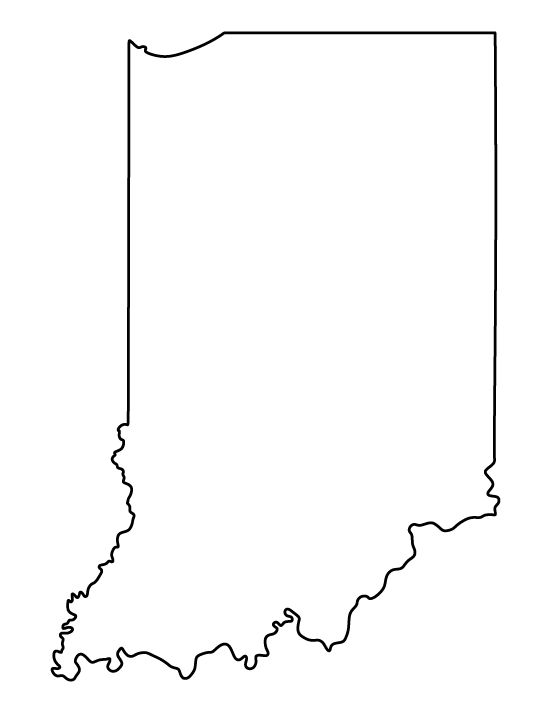 indiana map clipart