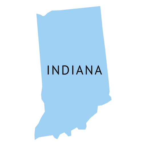 Indiana state plain map.