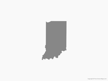 Vector Map of Indiana.