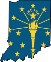 Fifty States: Indiana Clipart.