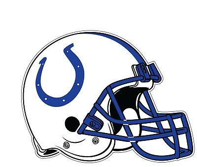 Indianapolis Colts Helmet Logo NFL Color Die Cut Vinyl Decal cornhole car  new.