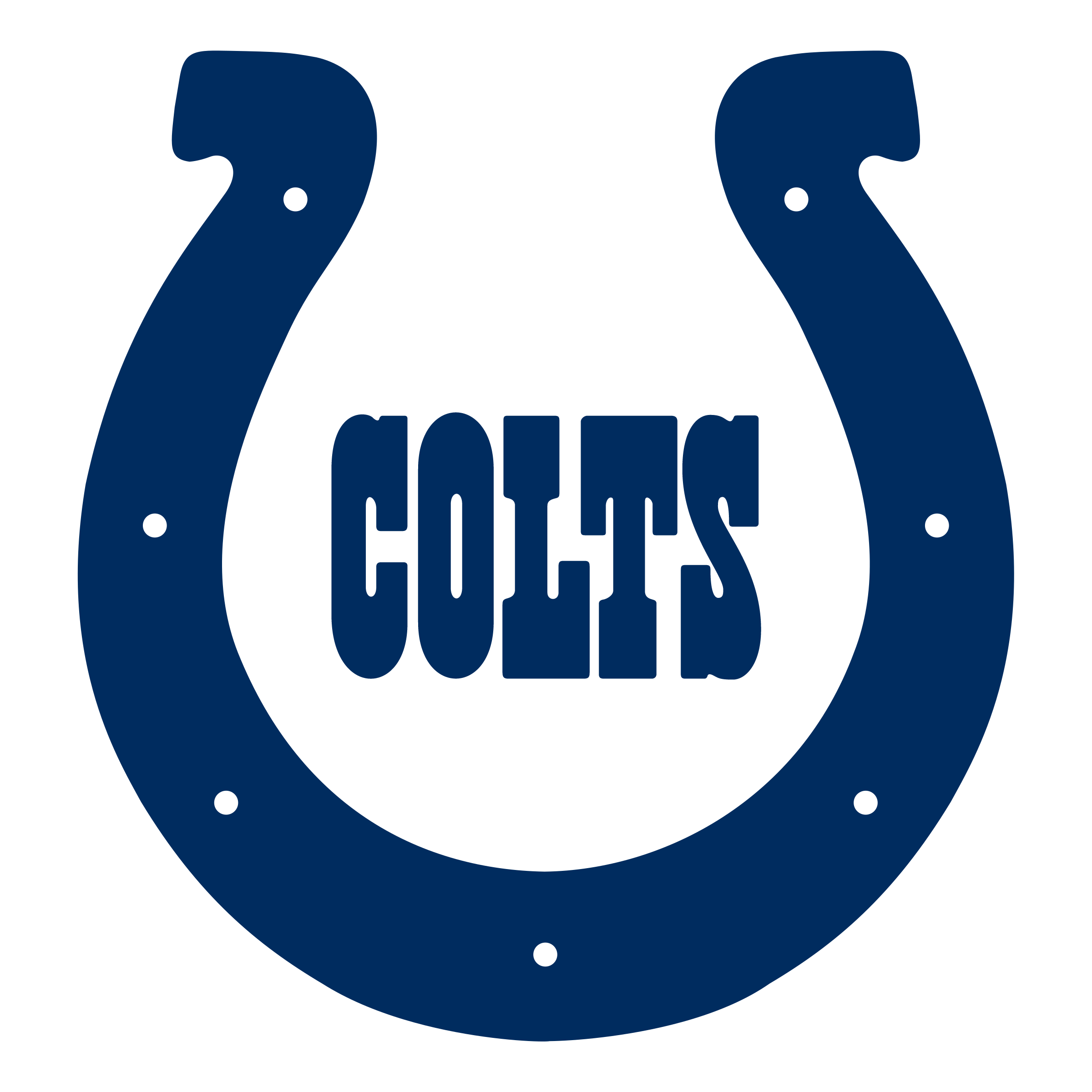 Indianapolis Colts Logo Clipart.