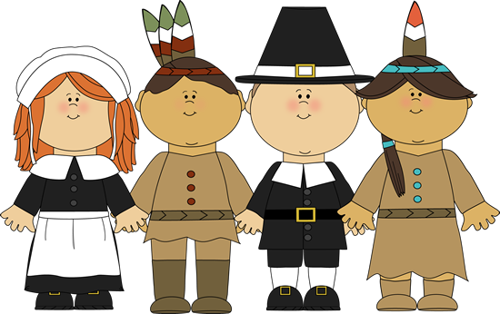 Pilgrims And Indians Clipart.
