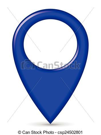 Vector Clip Art de azul, indicador, GPS.