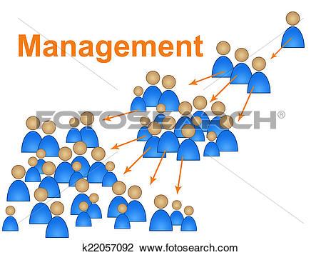 Clip Art of Manager Management Indicates Authority Organization.