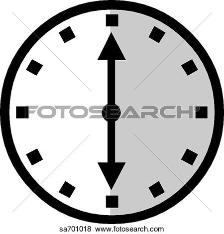 Stock Illustration of Clock indicates passage of time. sa701018.