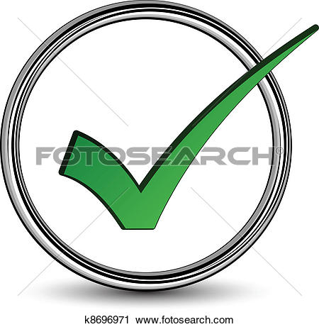 Clipart of vector positive checkmark k8696971.