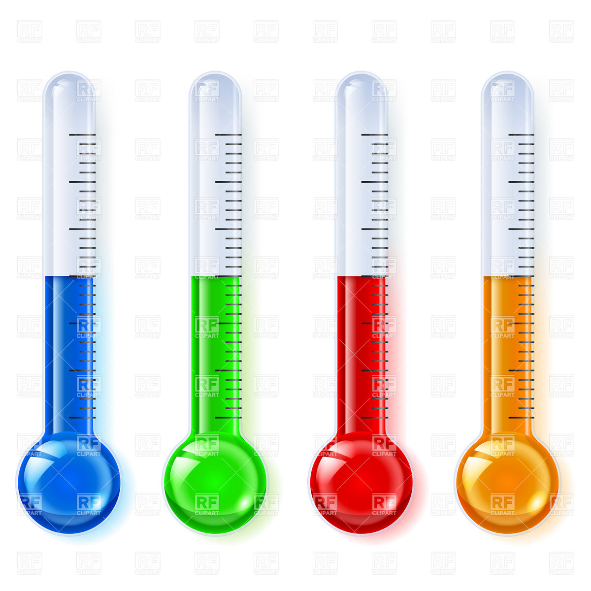 Cold Weather Thermometer Clip Art.