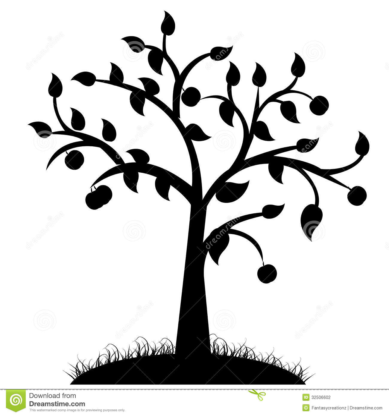 Simple Black And White Tree Drawings.