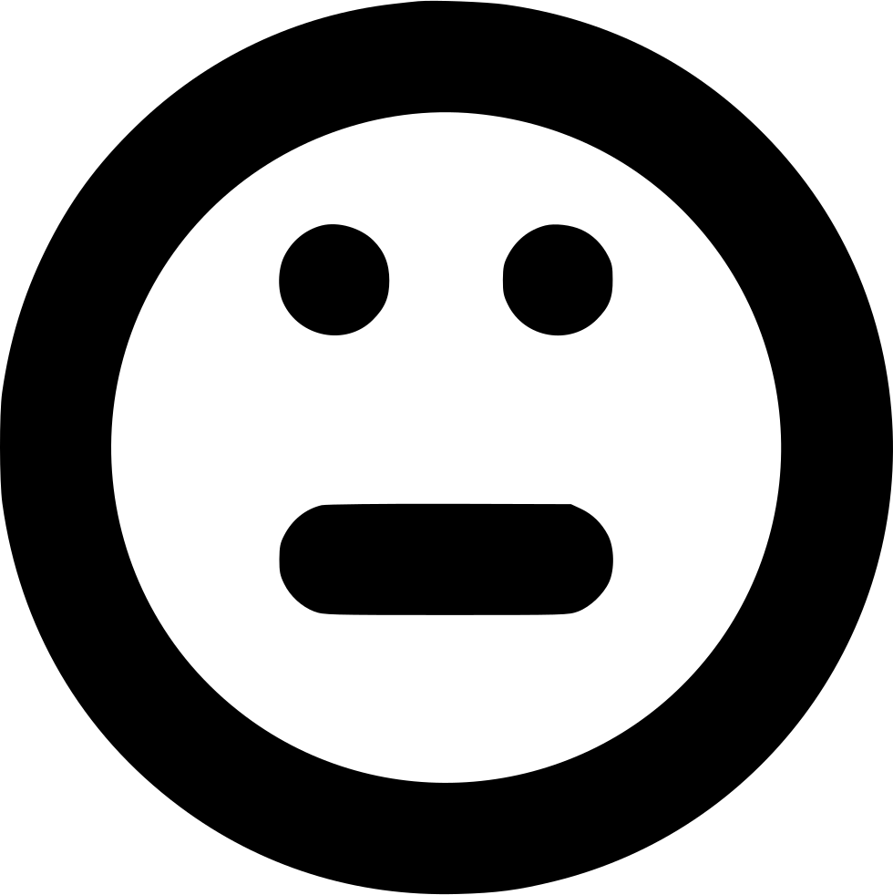 Smile Emotion Emoticon Face Normal Apathetic Indifferent.