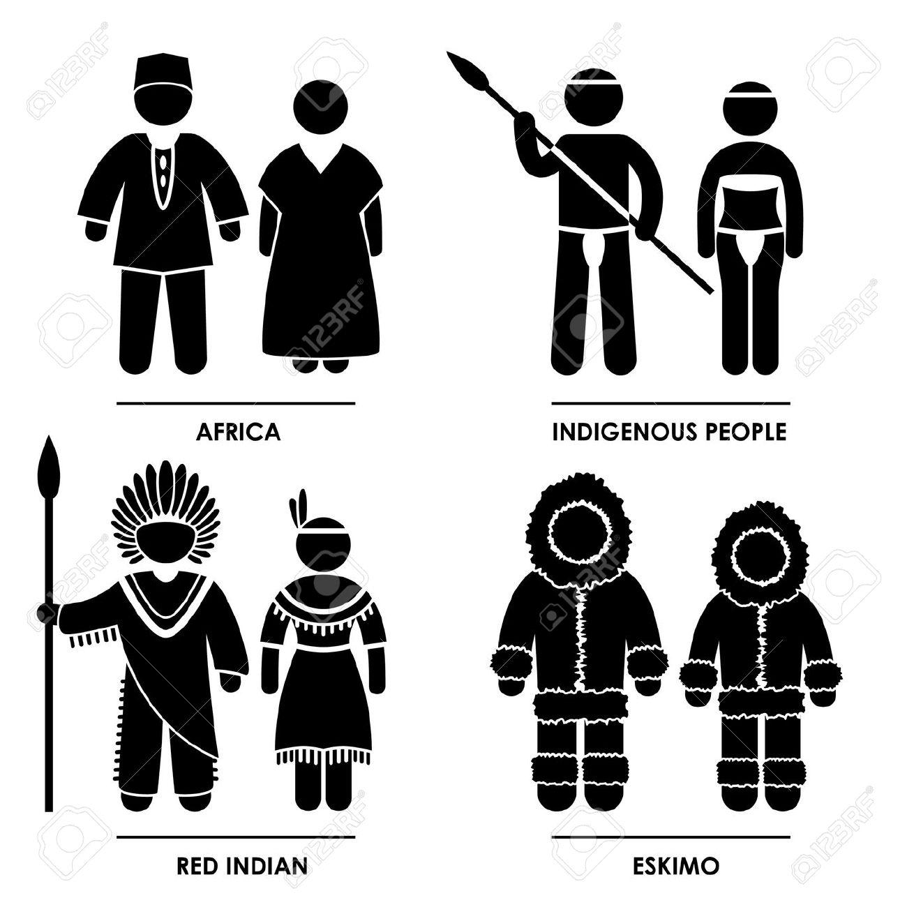 Indigenous clipart.