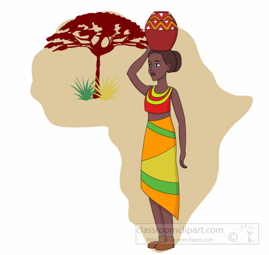 Africa clipart for walls.