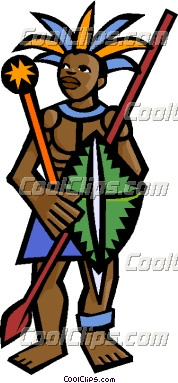 Africa People Shop Clipart.