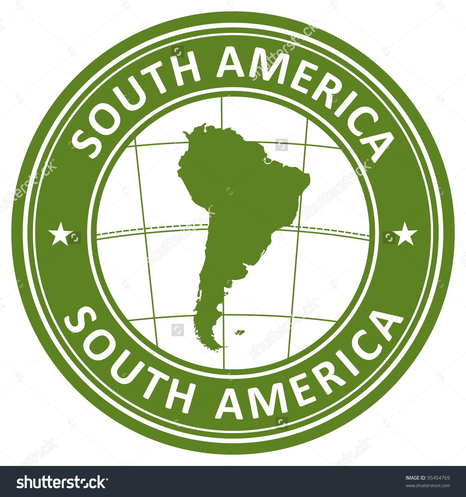 South America Stamp Stock Vector 95454769.