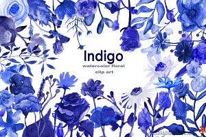 Indigo blue clipart Photos, Graphics, Fonts, Themes, Templates.