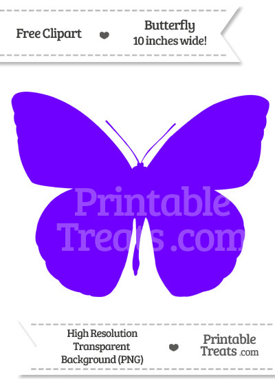 Indigo Butterfly Clipart — Printable Treats.com.