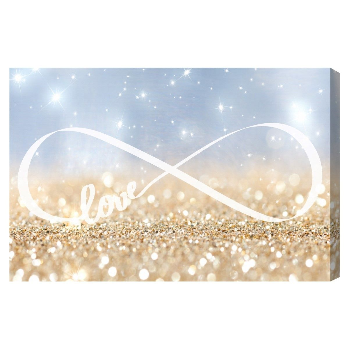 Infinite Love Sign Canvas Art.