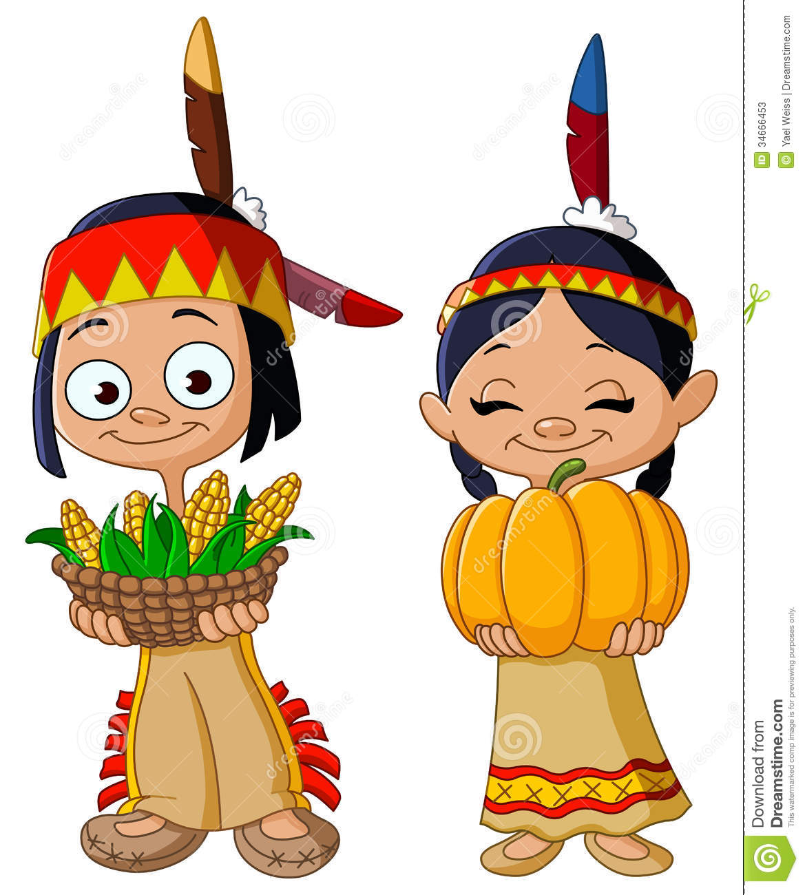 Thanksgiving Indian Clipart.