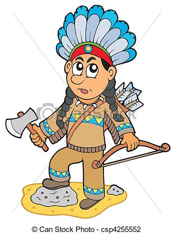 Little indian boy clipart.