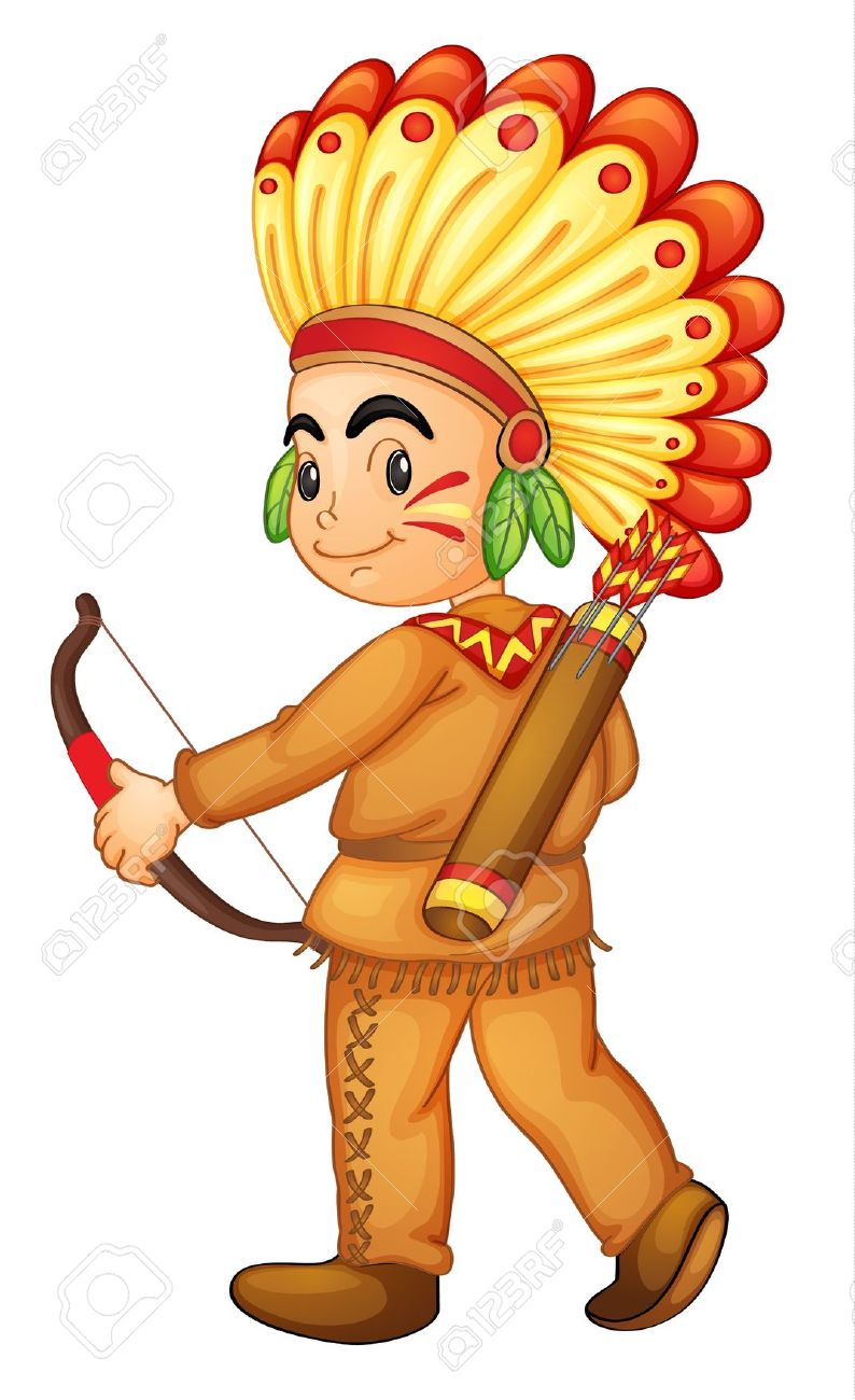 Indian kid clipart.