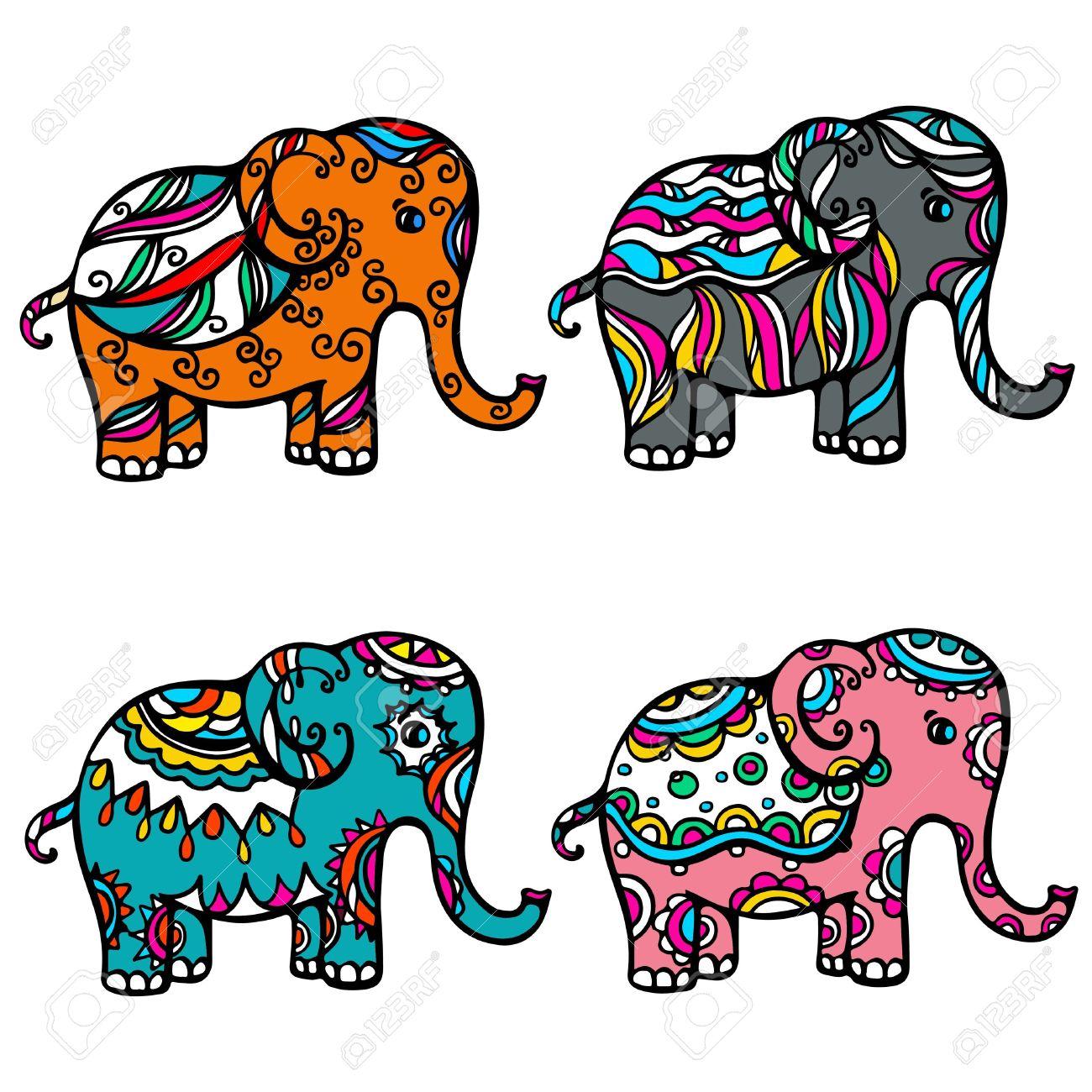 dibujo elefante indio.