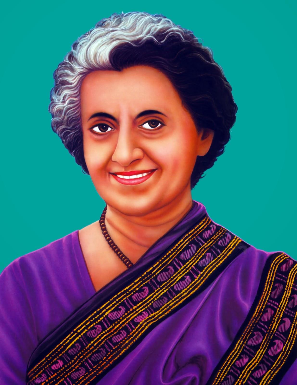 CLIP ARTS AND IMAGES OF INDIA: Indira Gandhi.