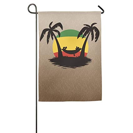 Amazon.com : ClustersN Palm Tree Clipart Spring Garden Flag.