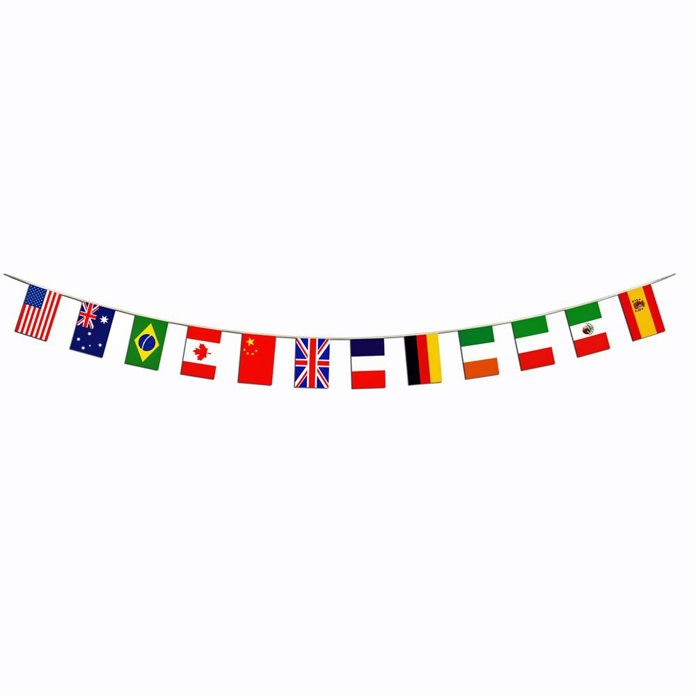 International World Flag Border Banner.